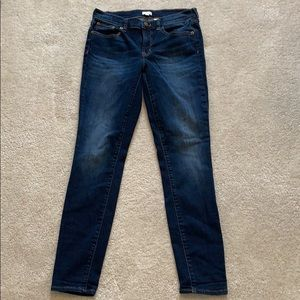 J.Crew stretch dark blue jeans